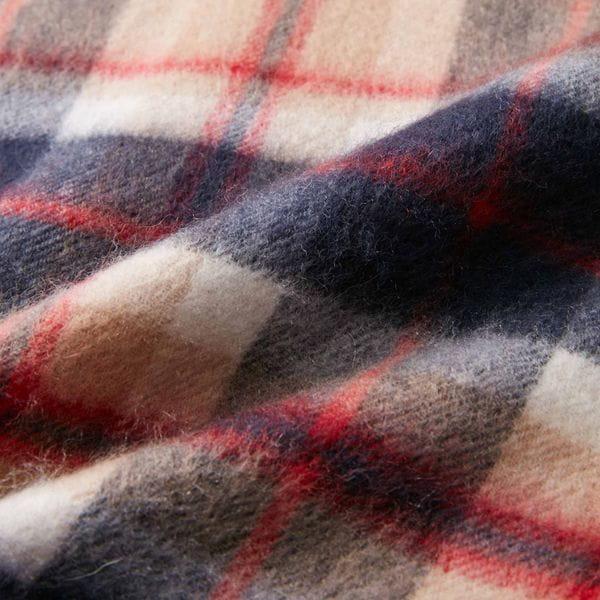 【BUCKINGHAM BEAR】タータンチェック洗えるカシミヤマフラー