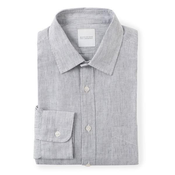 セミワイドカラー ブルーシャツ