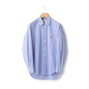 【BUCKINGHAM BEAR】ストライプレギュラーカラーシャツ