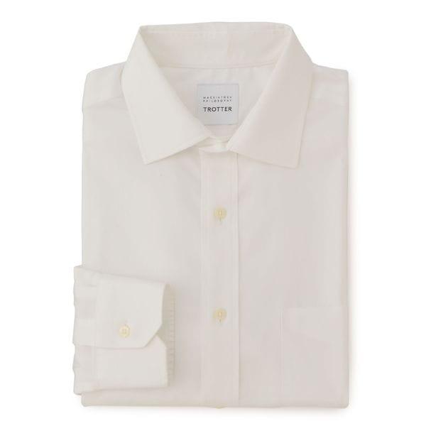 【TROTTER】 ツイル セミワイドカラー トロッターシャツ