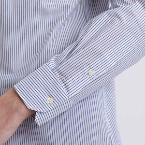 トロッターシャツ ポプリンストライプ