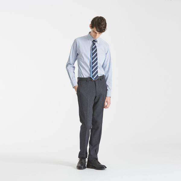 ロイヤルオックスストライプ ボタンダウン トロッターシャツ
