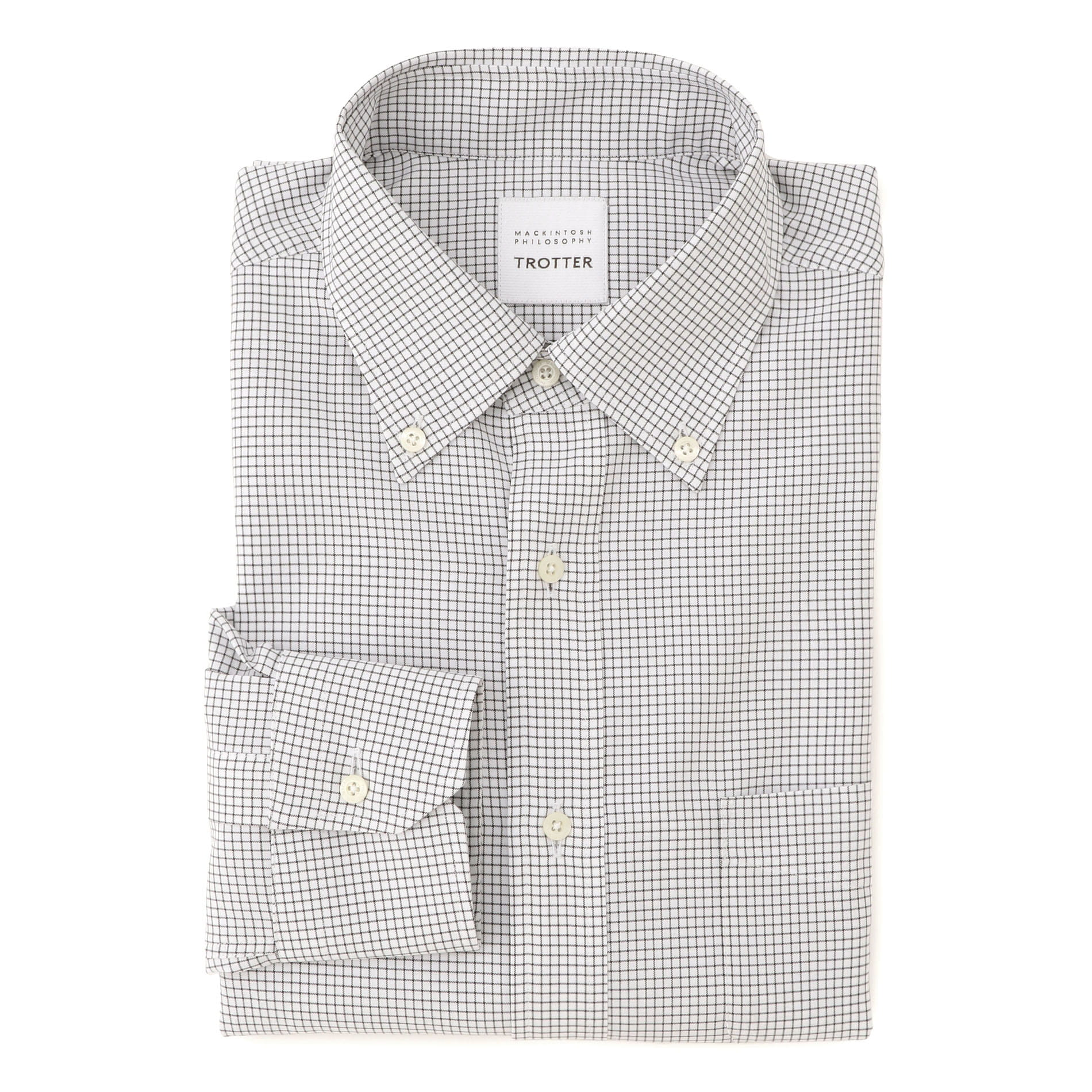 グラフチェック ボタンダウン トロッターシャツ