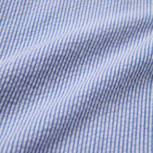麻ポリエステル/サッカー パッチポケットシャツ