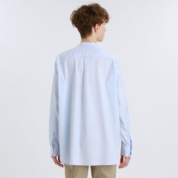 【BUCKINGHAM BEAR】バンドカラーシャツ