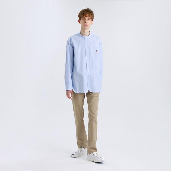 【BUCKINGHAM BEAR】ストライプバンドカラーシャツ