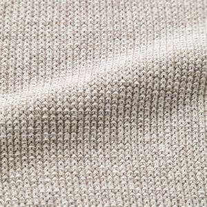 綿麻×ポリエステル カノコ Vネックプルオーバー