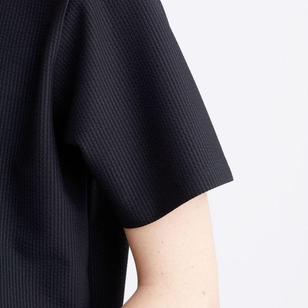 クルーネック半袖Tシャツ トリコットサッカー