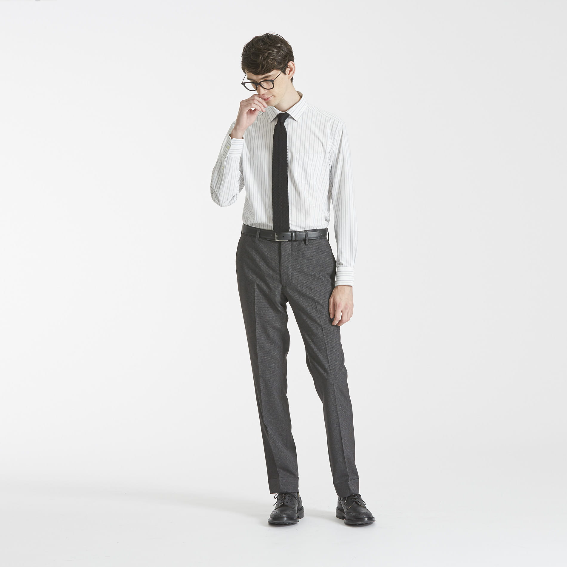 TROTTER extresolid TROUSERS ハウンドトゥース ストレッチ