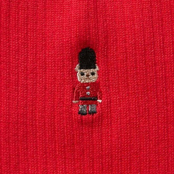 バッキンガムベア刺繍 バイカラーソックス