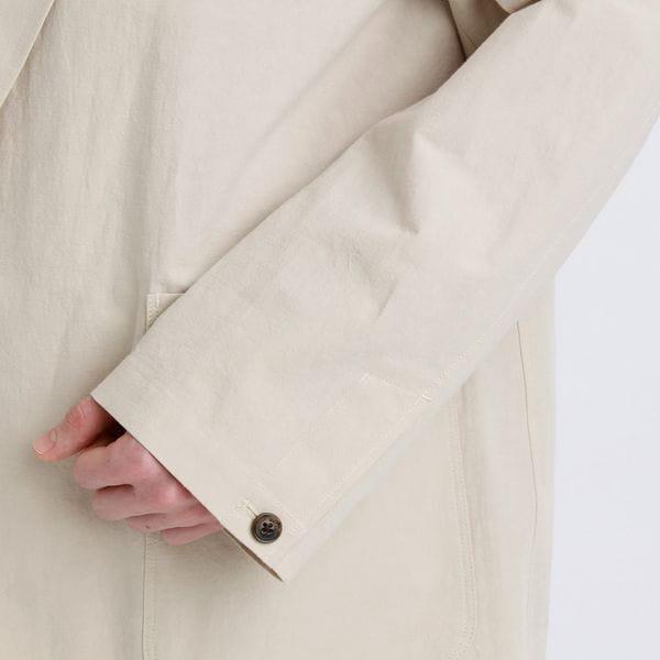 GREY LABEL コットンリネンピークドジャケット