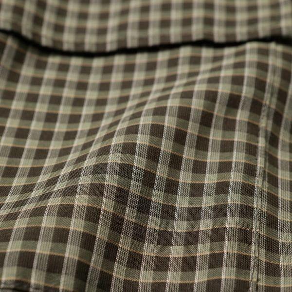 GREY LABEL シアーチェックミリタリーシャツ