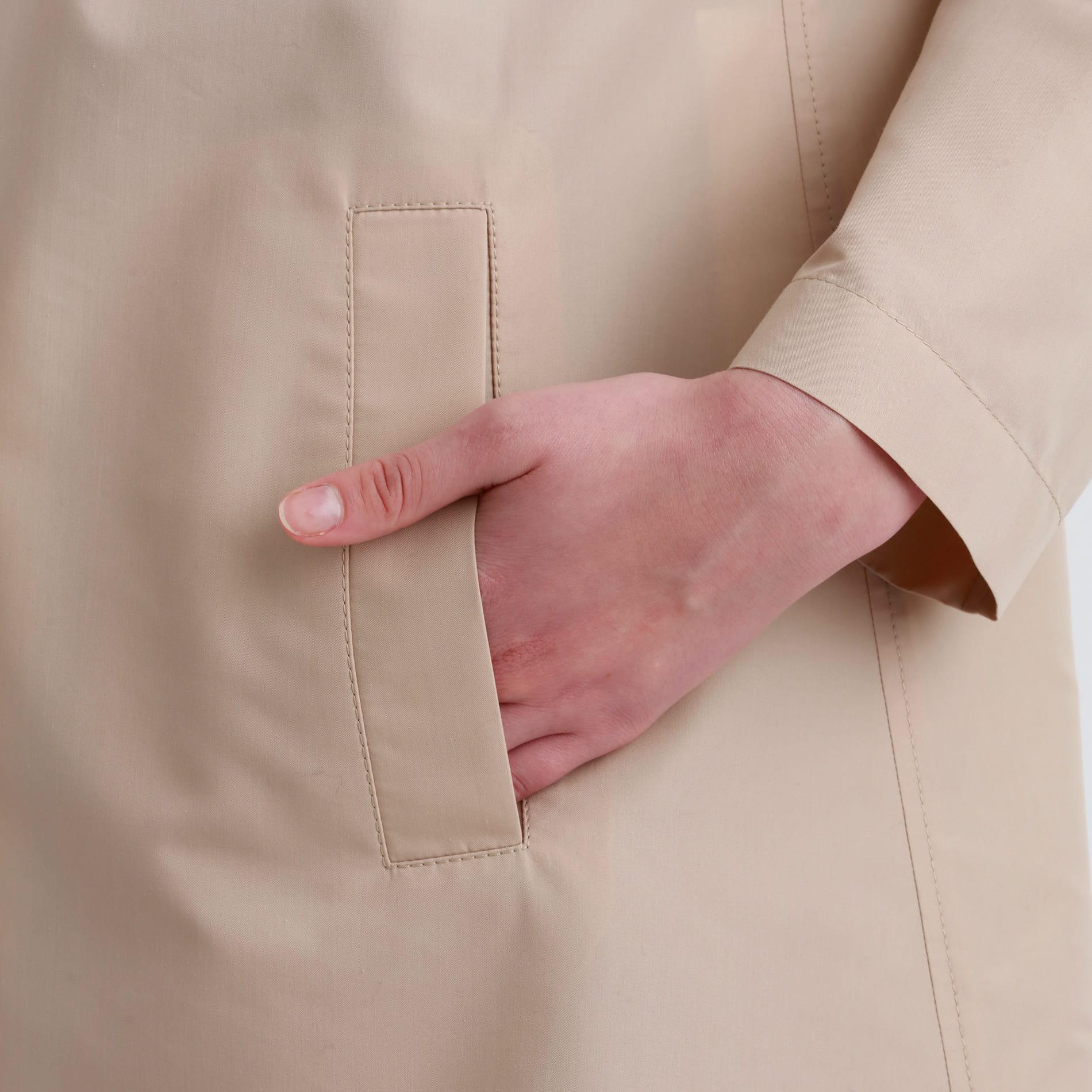 コットンレインクロスフーデッドコート