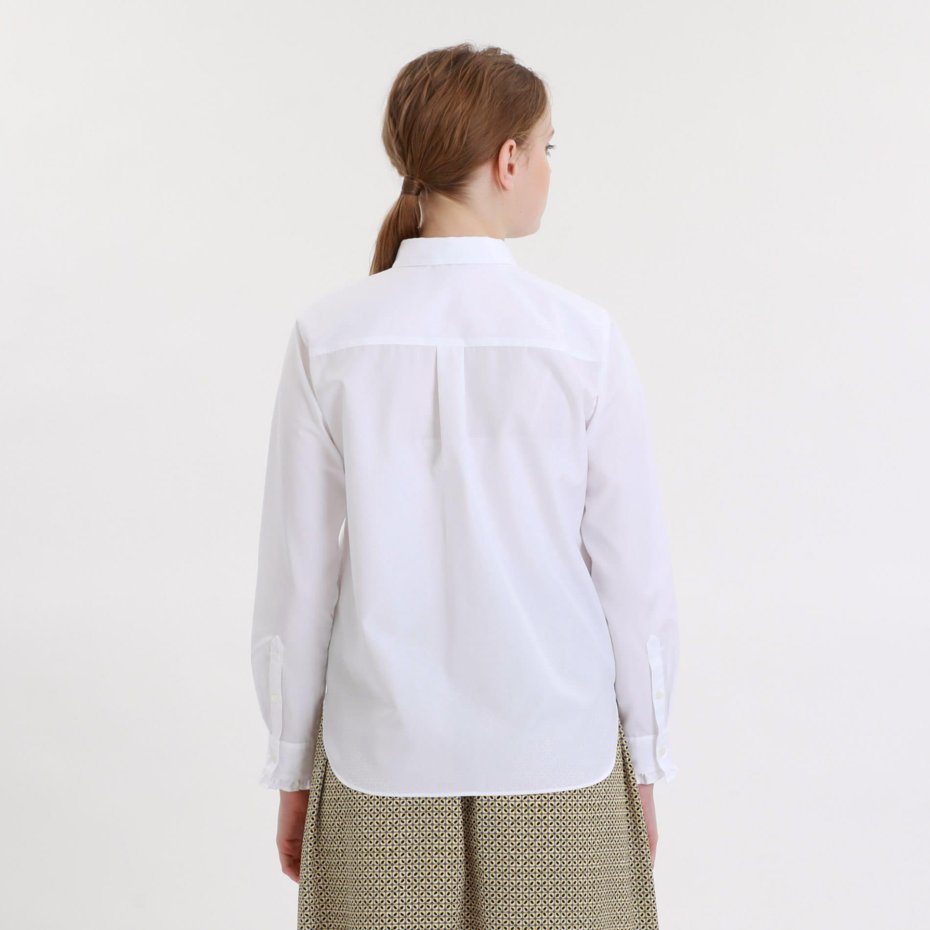 フリルカフスシャツ