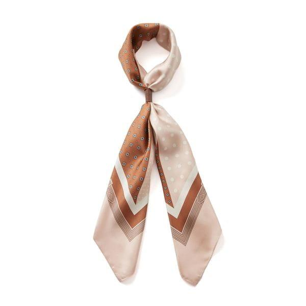 ベルト柄小紋ミックススカーフ