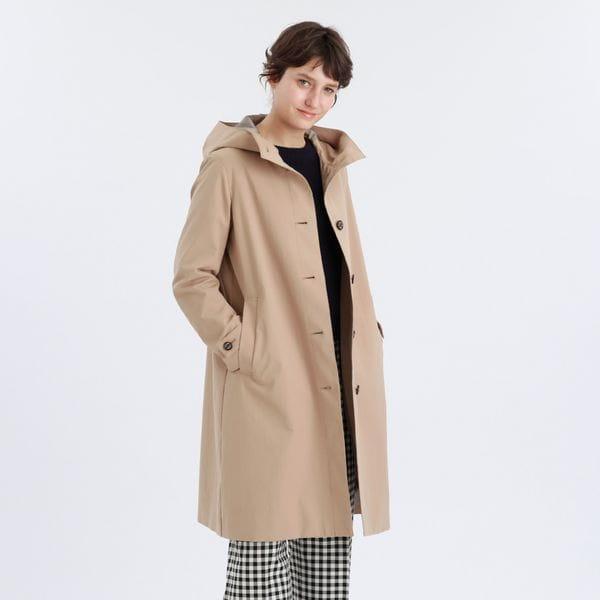 タスランツイルフーデッドコート