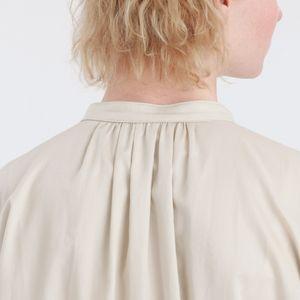 パフスリーブシャツワンピース