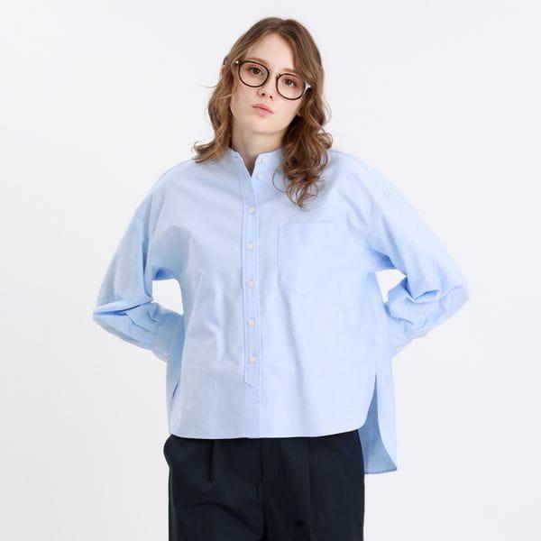 【WEB限定】オックスバンドカラーシャツ