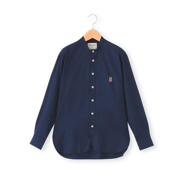 【BUCKINGHAM BEAR】バンドカラーネルシャツ