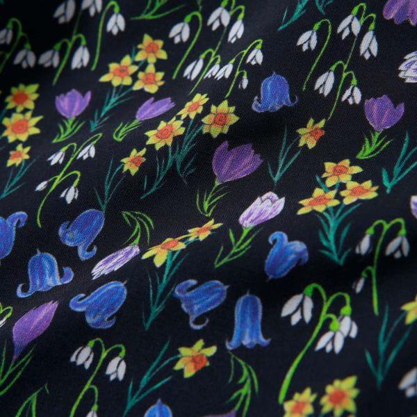 Snowblue Gardenコンビカーディガン