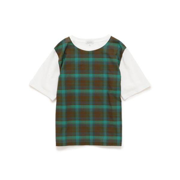 チェックコンビTシャツ
