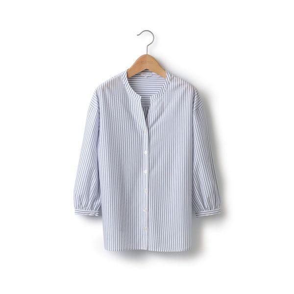 ハイゲージストライプスキッパーシャツ