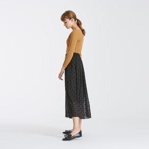 フロッキードットギャザースカート