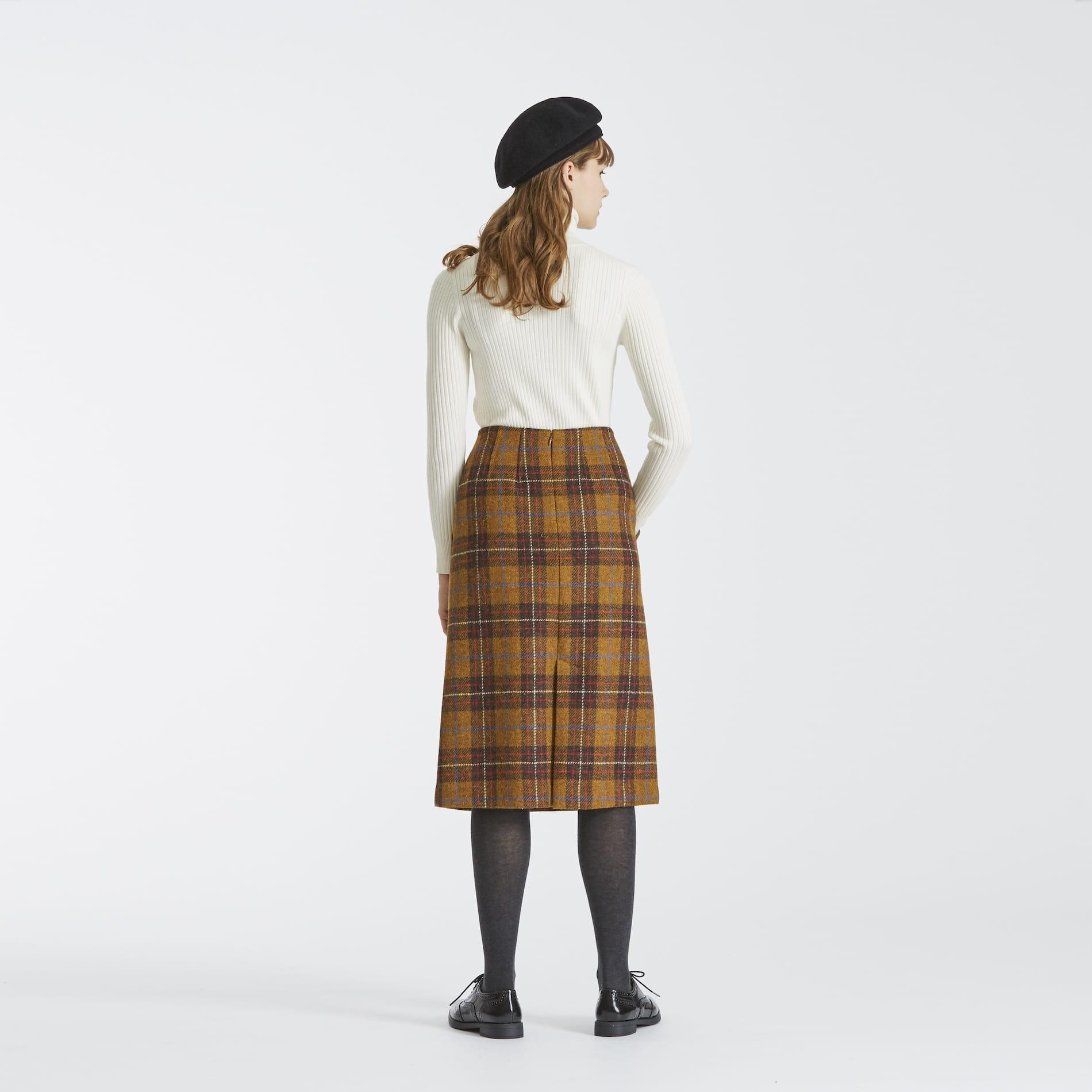 ハリスツイードタイトスカート