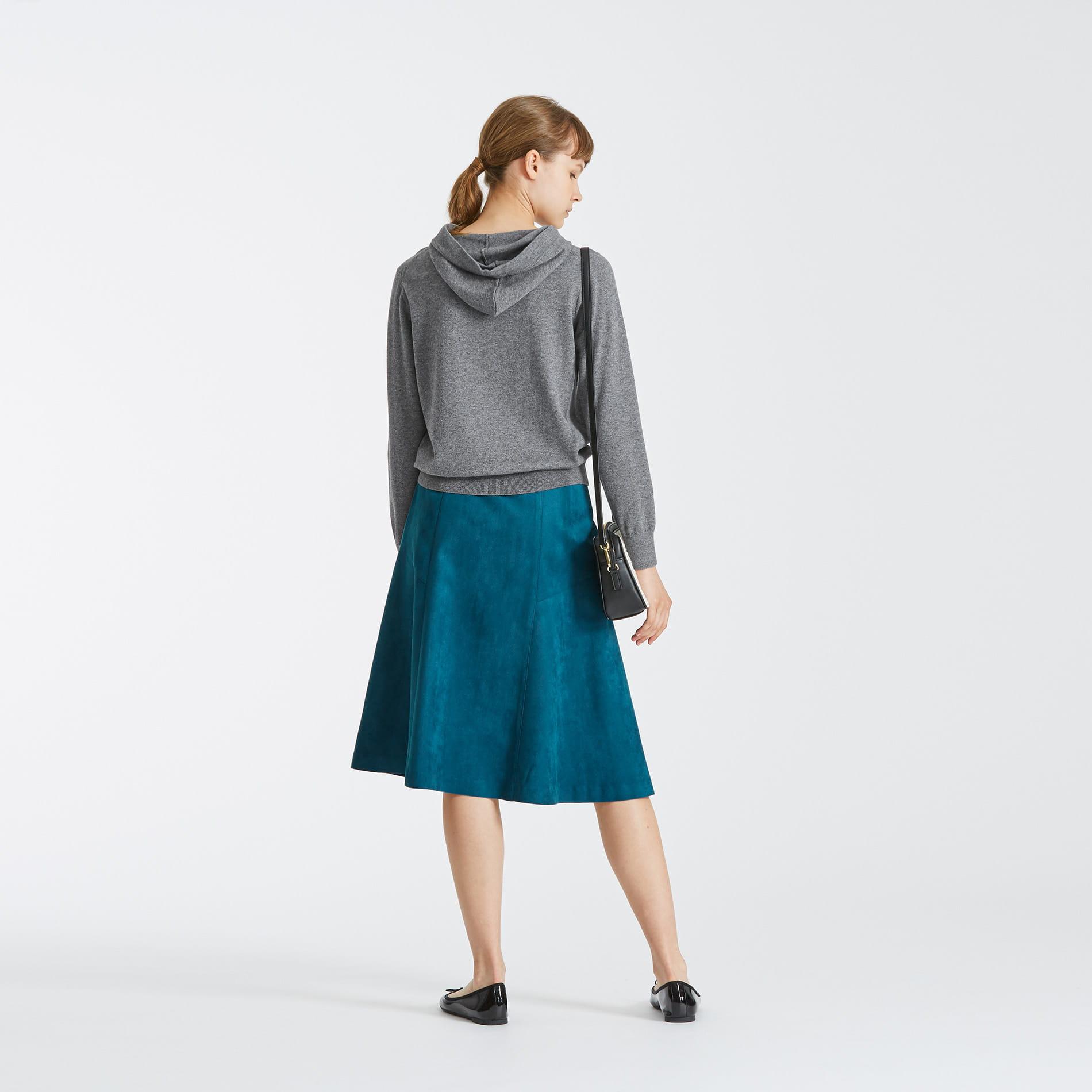 ソフトスエードセミフレアスカート