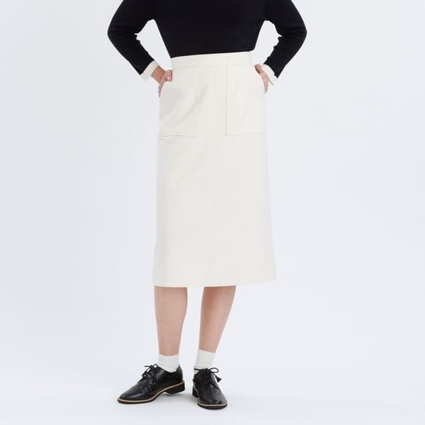 先染めツイルスカート