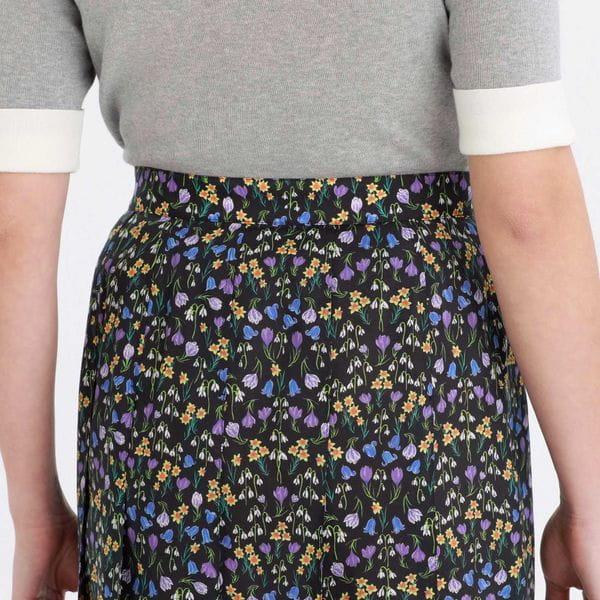 Snowblue Gardenキルトスカート