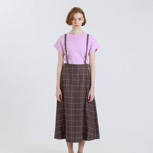 リネンショルダーストラップスカート