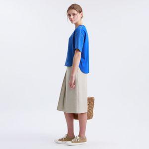 リネンライクダブルクロススカート