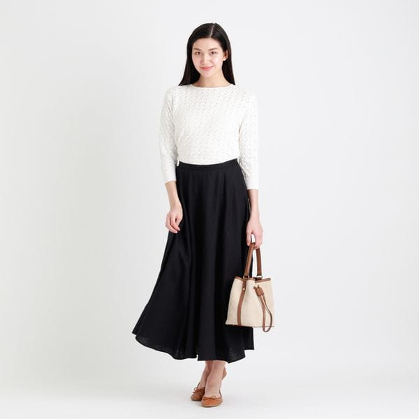 【WEB限定】リネンマキシスカート