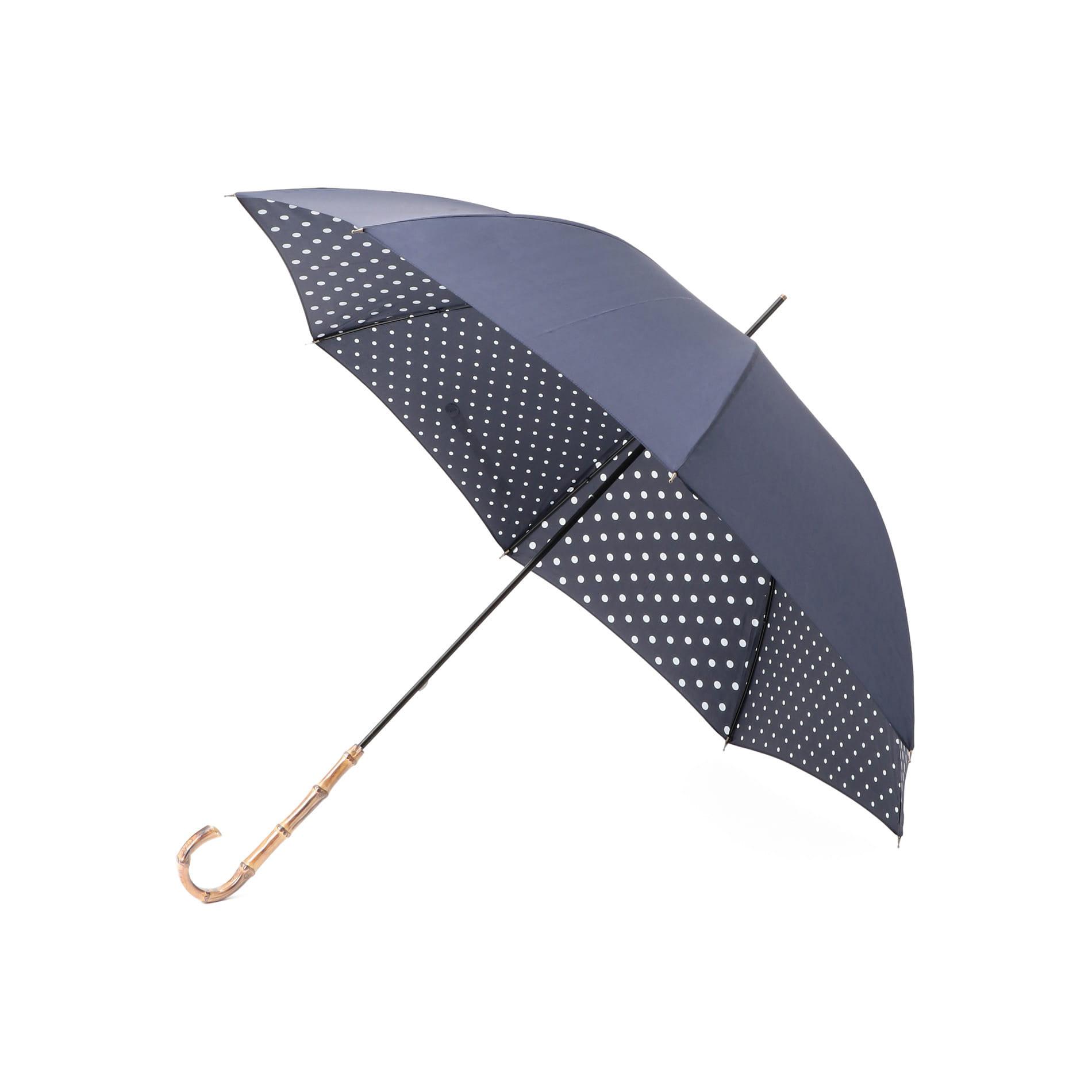 【晴雨兼用】裏ドット長傘