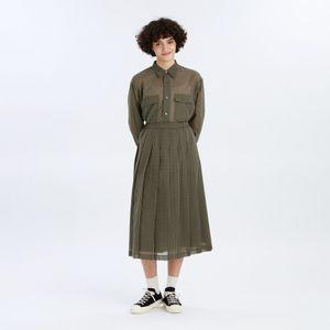 GREY LABEL シアーチェックプリーツスカート