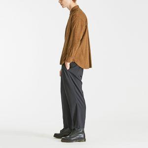 レギュラーカラーフランネルシャツ