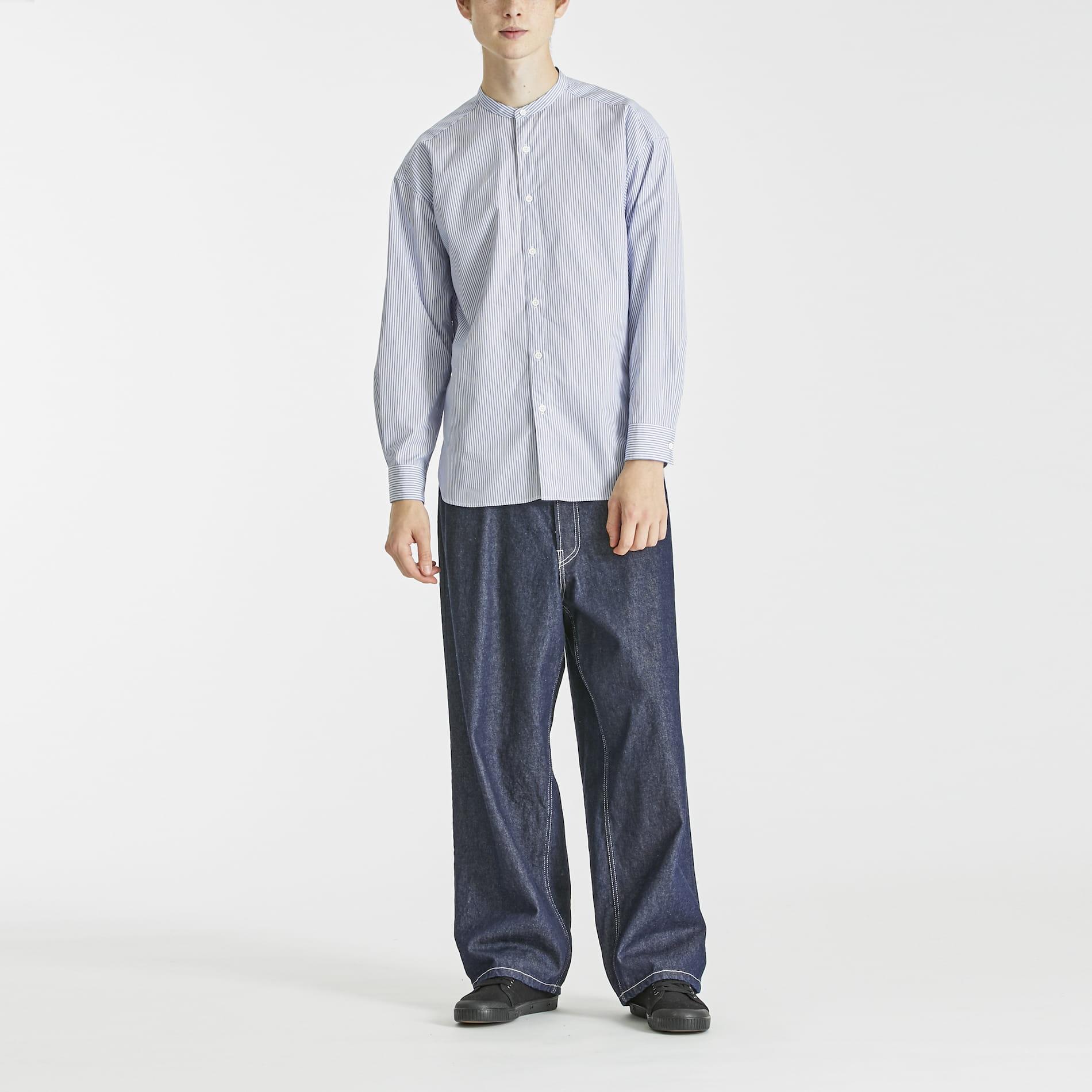 THOMAS MASON バンドカラーシャツ