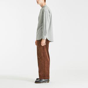 バンドカラーフランネルシャツ